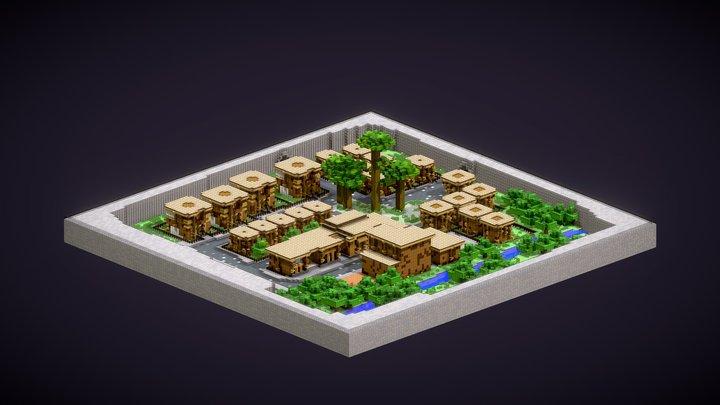 City/village 3D Model
