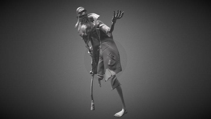 One-legged Pete 3D Model