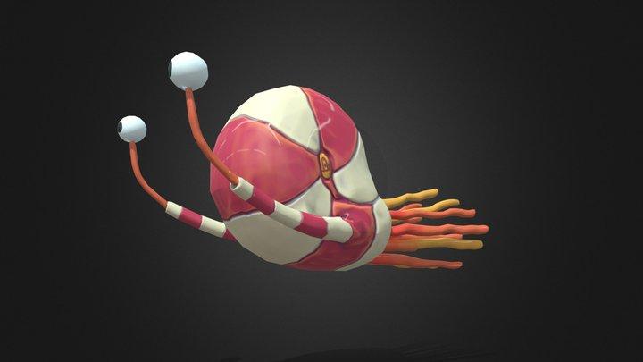 Underwater Snail 3D Model