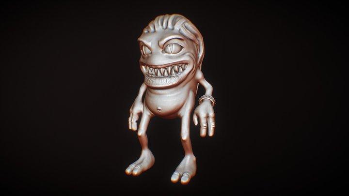 Day 06 - Stylized monster #sculptjanuary2018 3D Model