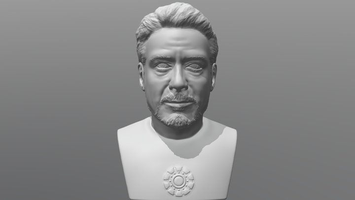 Tony Stark bust for 3D printing 3D Model