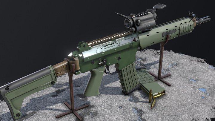 Ak5C & Aimpoint CS 3D Model
