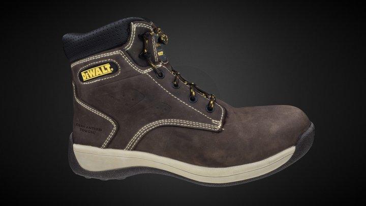 DeWalt Safety Boots. Photogrammetry HD texture 3D Model