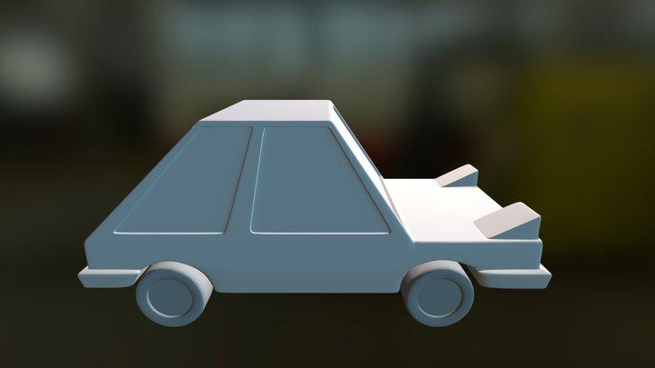 Cartoon cool little Car 3D Model