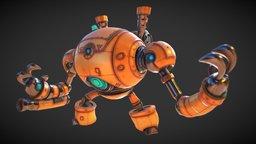 Arcslinger a gold smoke robot 3D Model
