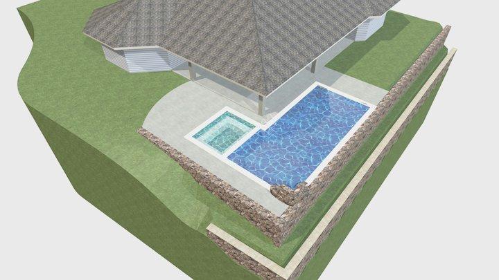 e-1 PILLAR Pool PLAN 1 3D Model