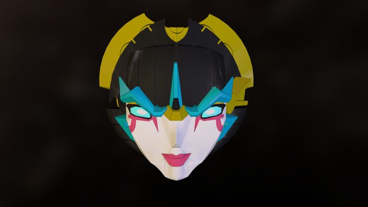 Windblade Head 3D Model