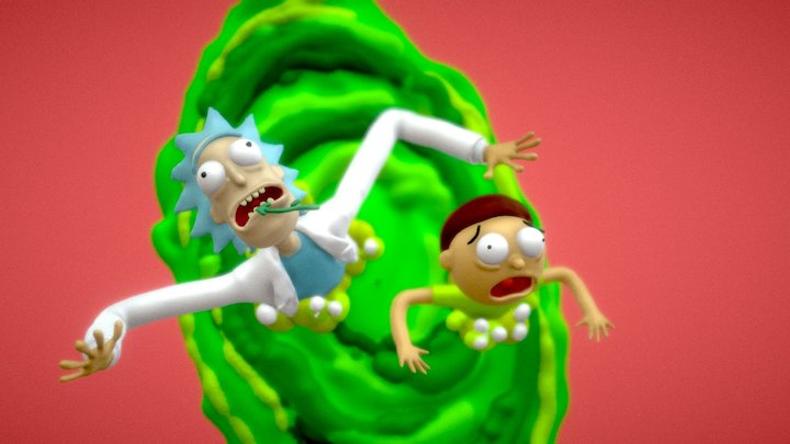 Daily VR Sketch, April 20th: Rick & Morty 3D Model