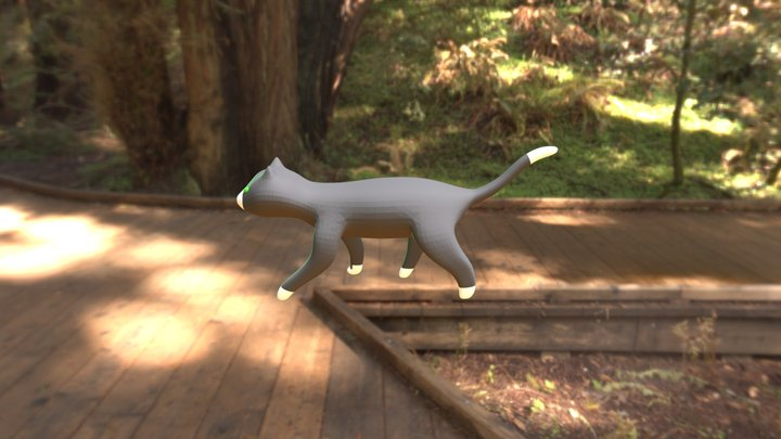 Prova di animazione - gatto che salta 3D Model