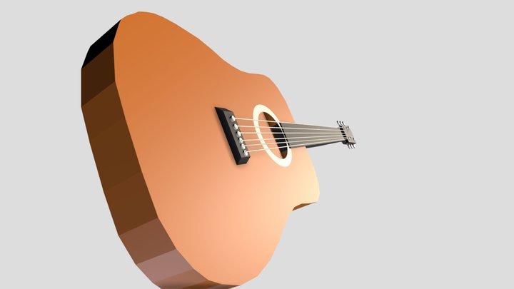Guitar LOW-POLY 3D Model