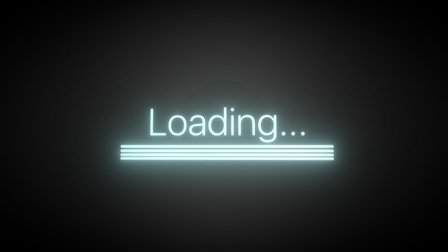 Loading animate 3D Model
