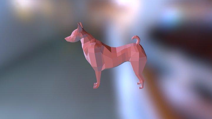Dog Low Poly Base 3D Model