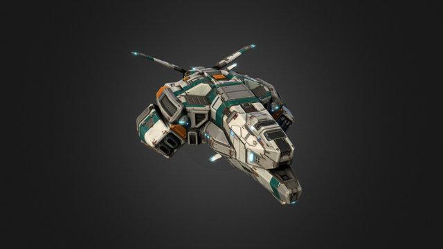 Taiidan Republic Bomber 3D Model
