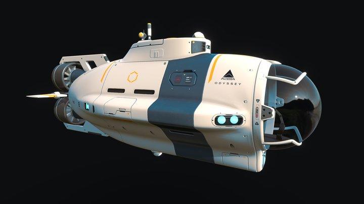 Subnautica Concept: Odyssey Science Sub 3D Model