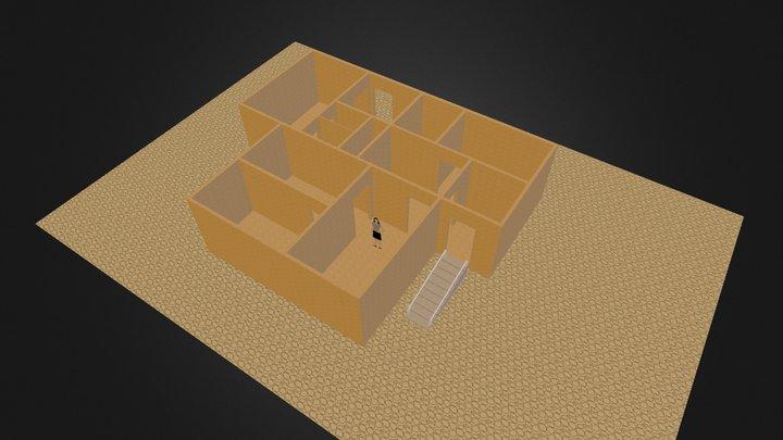 дом 1 этаж 3D Model