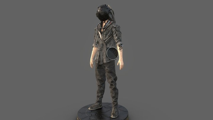 Survivor Cyborg 4 (Fan Art) 3D Model
