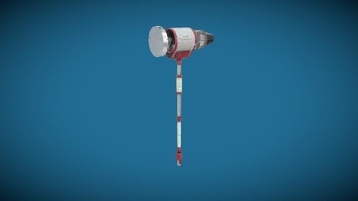 Mighty Weapon: Turbine Hammer 3D Model