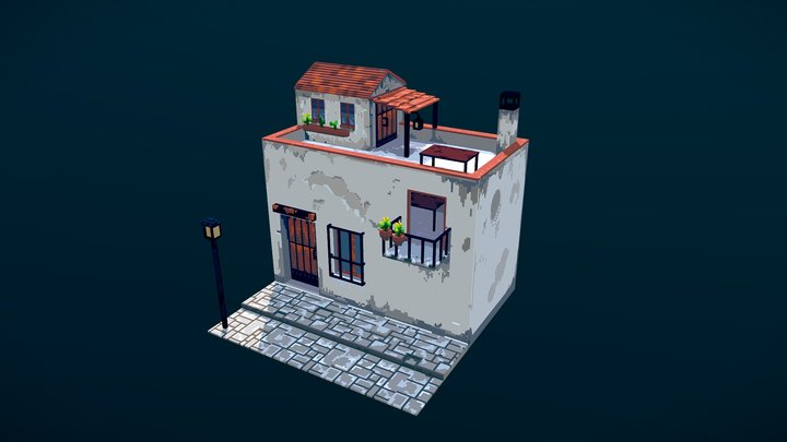 Andalusian House 3D Model