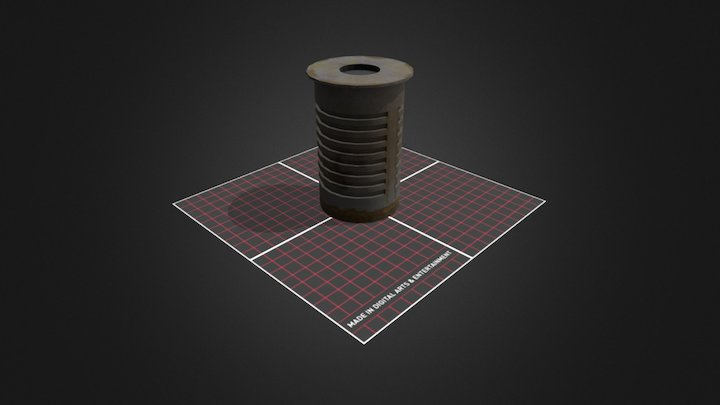 Trashbin Prop CityScene 3D Model