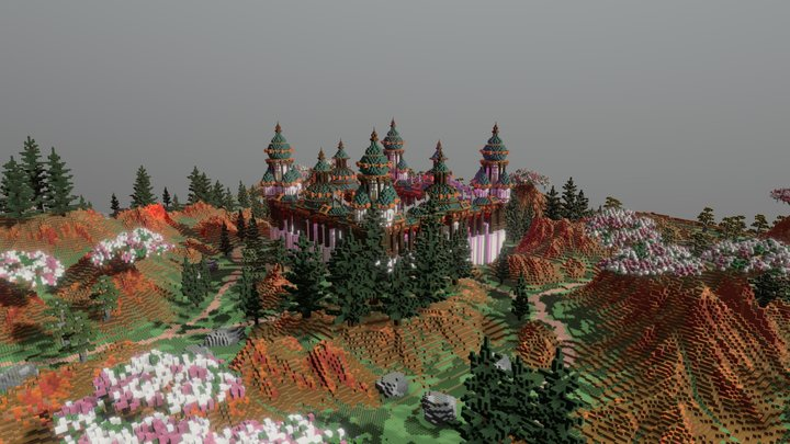 Ebongrow Plains - Faction Spawn + warzone 3D Model