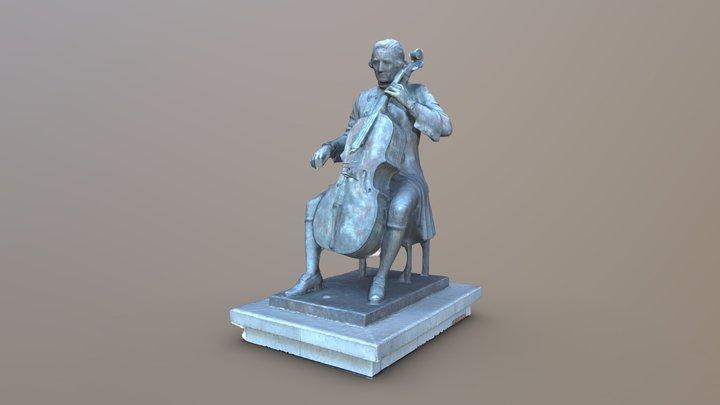Luigi Boccherini statue in Lucca, Italy 3D Model