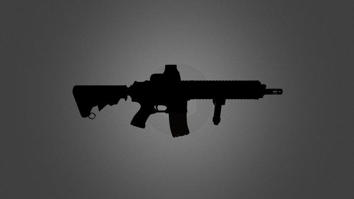 M16 Paintball Gun 3D Model