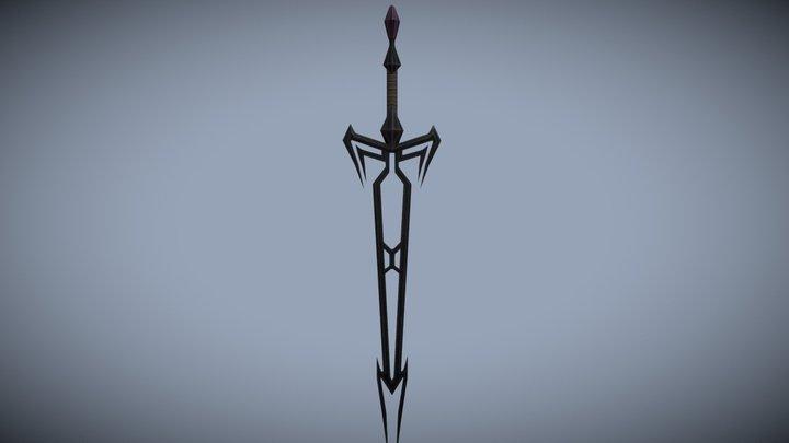 Black Sword 3D Model