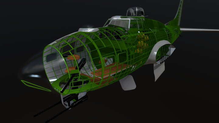 B17-G fuselage 3D Model