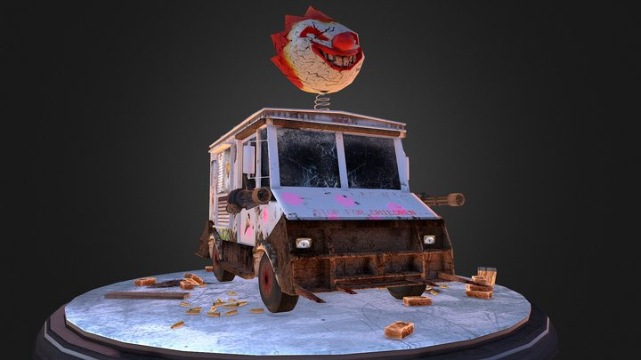Sweet Tooth Ice Cream Truck 3D Model