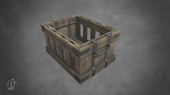 Ancient Wooden Box 1 3D Model