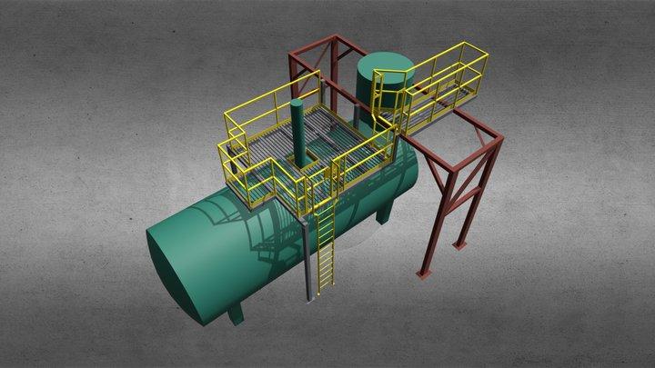 Boiler Platform 3D Model