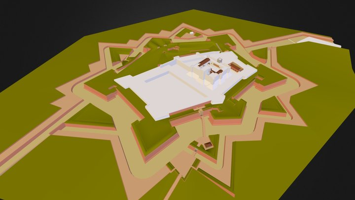 La citadelle de Perpignan 3D Model