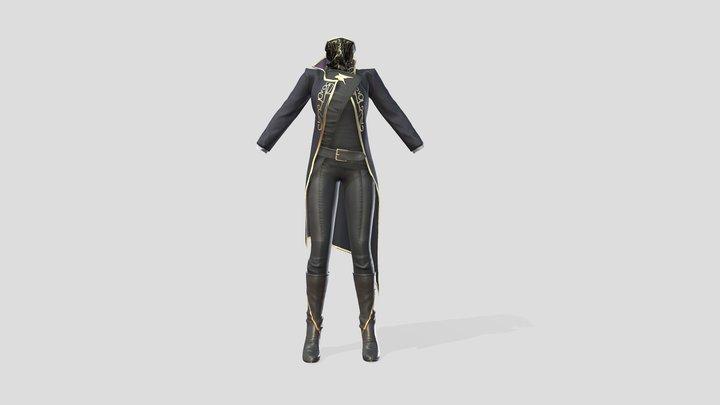 Full Fantasy Warrior Bandit Rebellion Outfit 3D Model