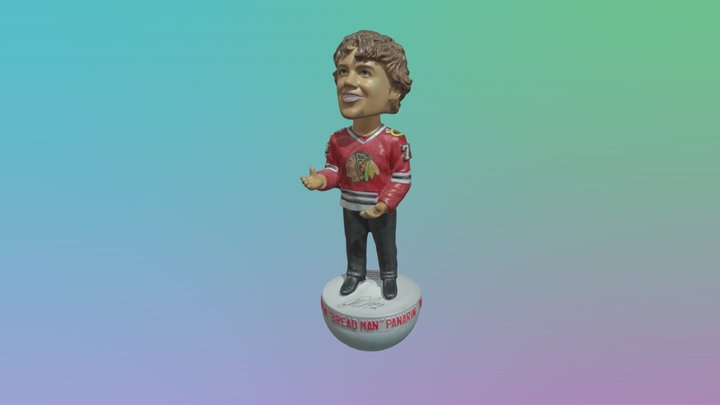 Panerin Blackhawks Bobble Head Scan 3D Model