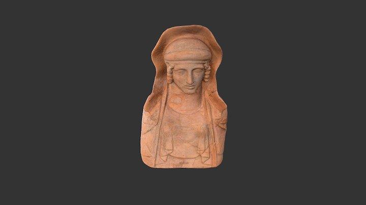 Busto femenino de estilo griego 3D Model