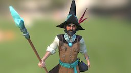 Faisal the wizard 3D Model