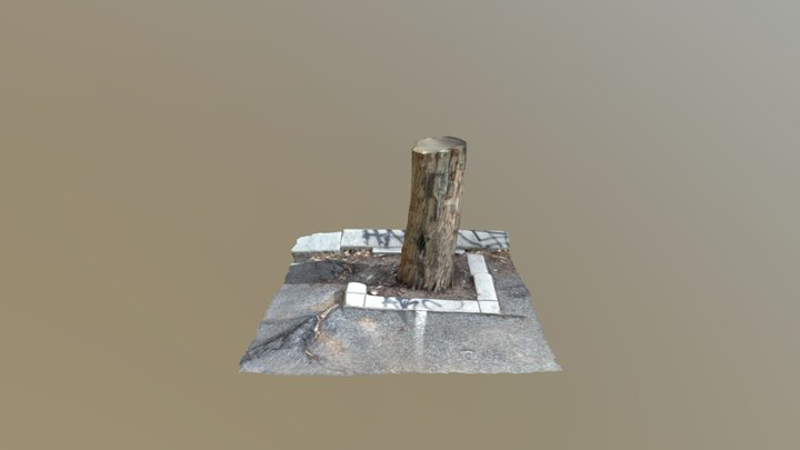 Tree and Kerb 3D Model