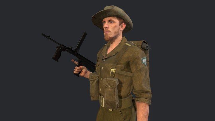 Day of Infamy - 17th Australian Battalion 3D Model