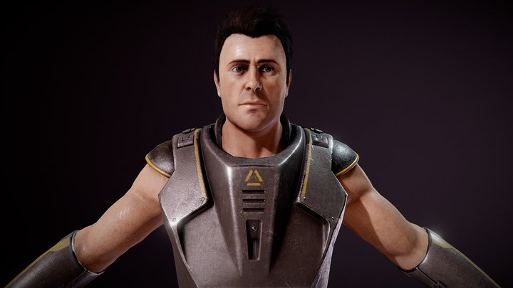 SciFi Character 3D Model