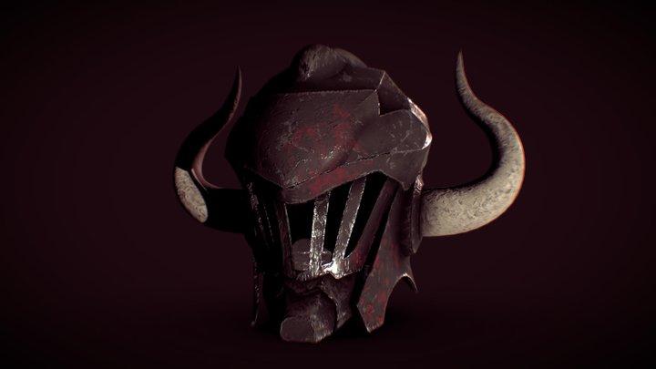 Goblin Slayer helmet with horns 3D Model