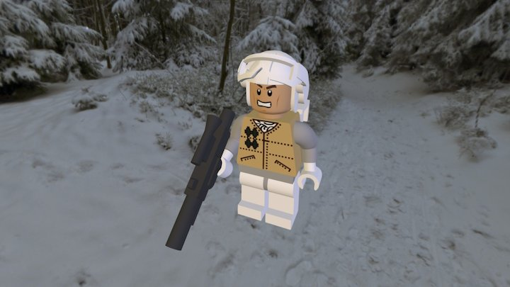 Rebel of the Battle of Hoth LEGO 3D Model