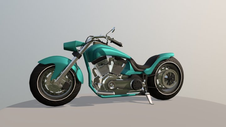 Customized Motorcycle 3D Model