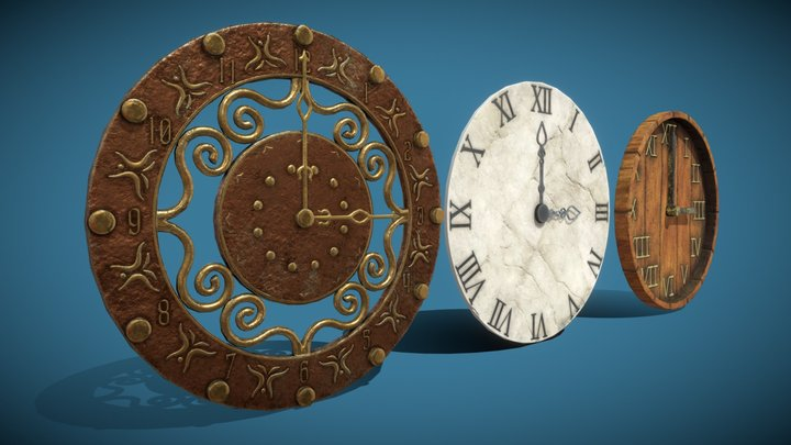 [Set] Clocks 3D Model