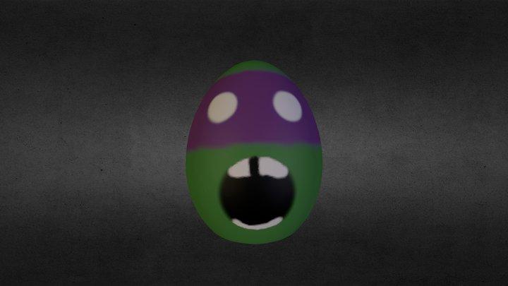 2012 Screaming Donatello EasterEgg 3D Model