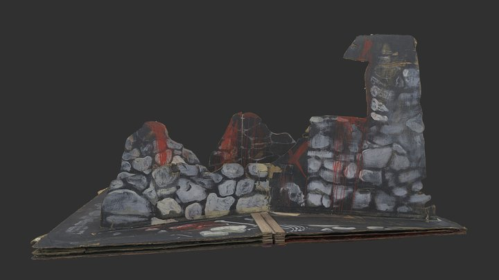 The Bloody Wall (stage set 3 of 5) 3D Model