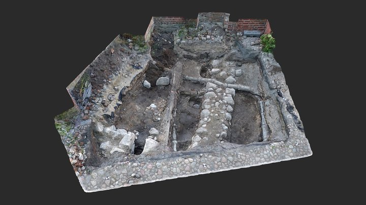 Klostret i Ystad – undersökningsytan 3D Model