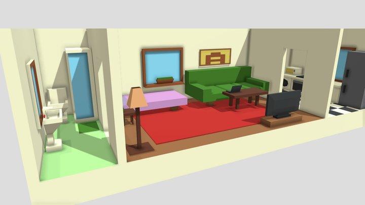Low Poly Flat 3D Model