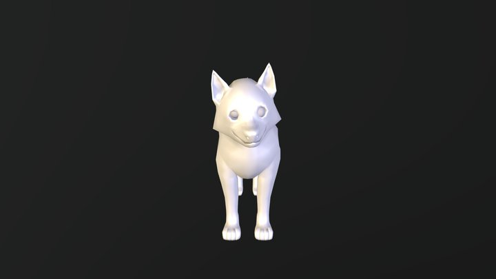 Husky puppy exercise 3D Model