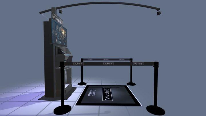 Mythicvr Demonstration Kiosk 11098 C1 3D Model