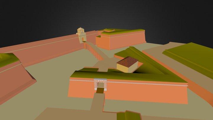 Entrée de la citadelle de Perpignan 3D Model